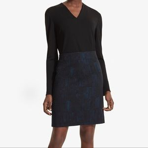 MM LaFleur Noho skirt in brushed jacquard size 10
